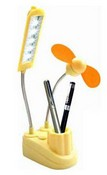 The Newest USB Lamp and Fan with Pen Holder images