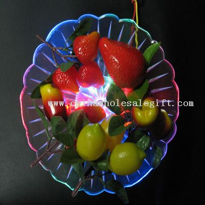 Glittery fruit dish and bowl