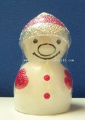 Small Snow Man Shape Candle images