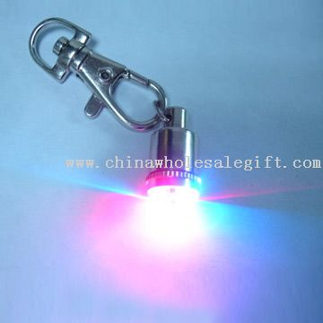LED Flashing Keychain Light