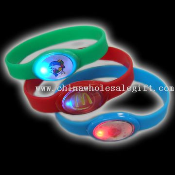 LED light silica gel bracelet
