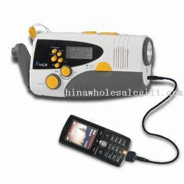 Dynamo Flashlight with LCD Screen