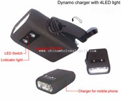 Dynamo charger with 4 LED Flashlight images