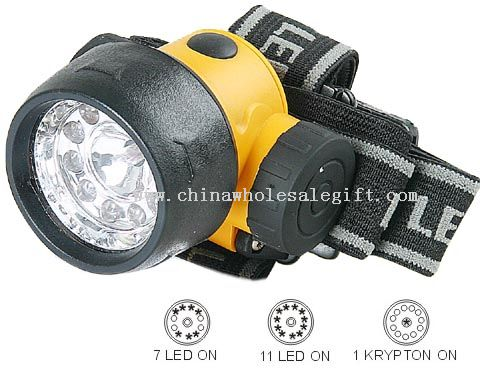 11pcs LED+1pc krypton headlamp