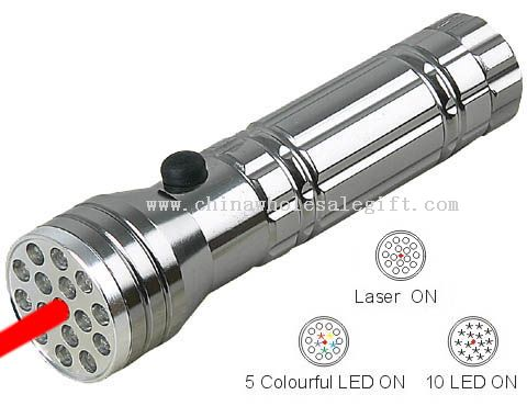 15pcs LED torch with laser light