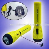Cord Pulling Dynamo Flashlight with Mobile Phone Charger images