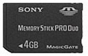 Sony Memory Stick Pro Duo 4GB images