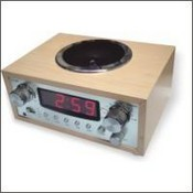 Wooden AM/FM radio images