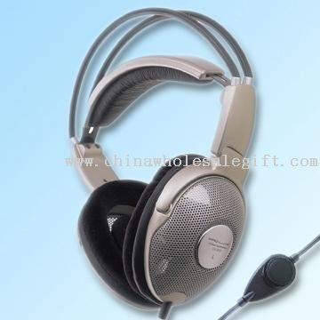 Open-Air Stereo Headphone with Leatherette Headband and Cushion