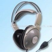Open-Air Stereo Headphone with Leatherette Headband and Cushion images