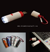 Key chain with USB charged LED flashlight images