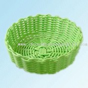 Woven Plastic Wicker Round Basket images