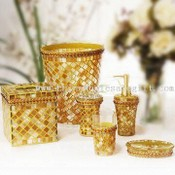 Mosaic Glass Bathroom Set images