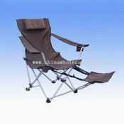 Luxurious camping chair with big size & foot-rest images