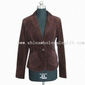 Womens 100% Cotton Corduroy Jacket images