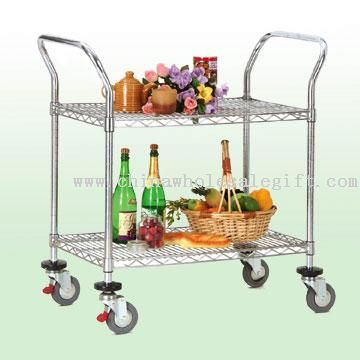 DIY Serving Cart on Trolley Castor Wheels