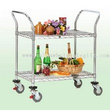 DIY Serving Cart on Trolley Castor Wheels images