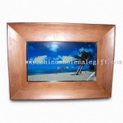 7-inch Wooden Digital Photo Frame with Resolution of 1440 x 234 images