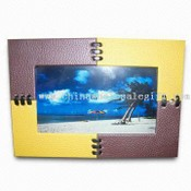 Leather Digital Photo Frame with Built-in Portable Speaker images