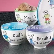 Personalized Family Ice Cream Bowls images