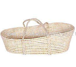 Straw Baby Basket
