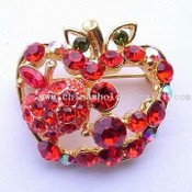 Apple-shaped Costume Brooch images