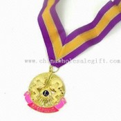 Stamped Etched Medals with Colored Ribbon images