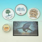 Stamped or Etched Medals Made of Assorted Materials images