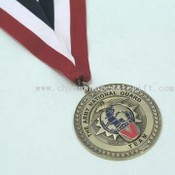 Well-Crafted Medals with Ribbons in Assorted Color Combinations images
