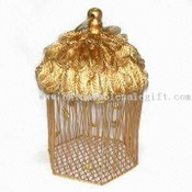 Christmas Metal Wire Box with Exotic Decorations images
