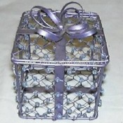 Metal Wire Gift Box in Blue images