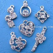 Alloy Pendants with Rhinestones images