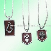 Metal Pendants with Leather Straps images