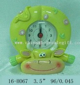 Polyresin Cow Clock w/flower images