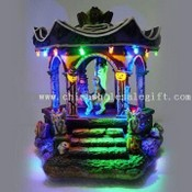 Polyresin Craft with Hallowmas Decoration and LEDs Inside images