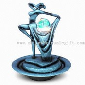 Polyresin Fountain with Water Ball and LED images