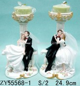 Polyresin Wedding Candle Holder images