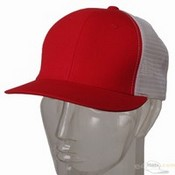 Cotton Mesh Cap / Red White images