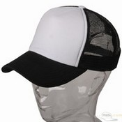 Cotton Trucker Cap / Black White images