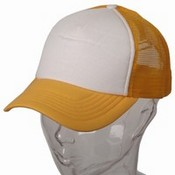 Cotton Trucker Cap / Gold White images