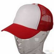 Cotton Trucker Cap / Red White images