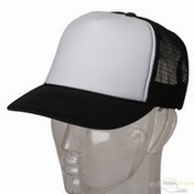 Foam Mesh Cap / Black White images
