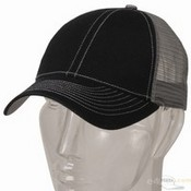 Low Profile Structured Trucker Cap / Black Grey images