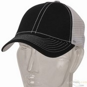 Low Profile Structured Trucker Cap / Black White images