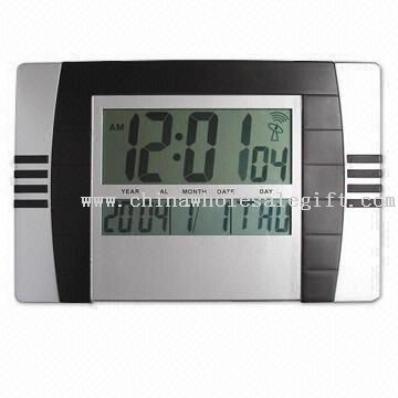 Radio-controlled LCD wall Clock,desk clock