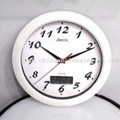 10-Inch Wall Clock with LCD Day / Date Calendar images