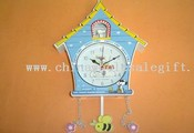 wall clock with music images