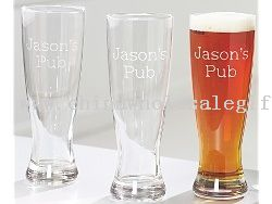 Personalized Pub-Style Beer Glasses