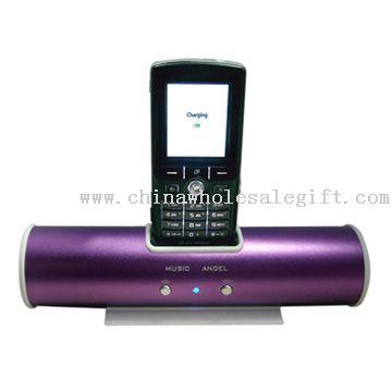 Carregador de celular portátil com alto-falante