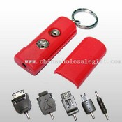 Portable Emergency Mobile Phone Battery Charger Including Five Changeable Plugs images